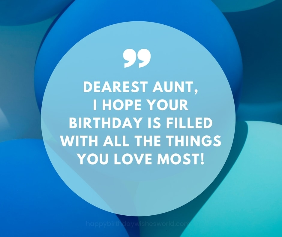 Dearest aunt happy birthday