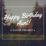 Happy birthday aunt you're the best