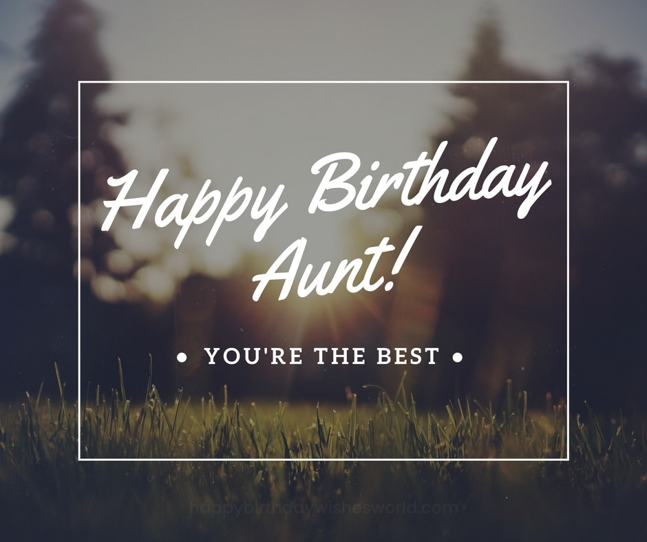 happy birthday aunt youre the best