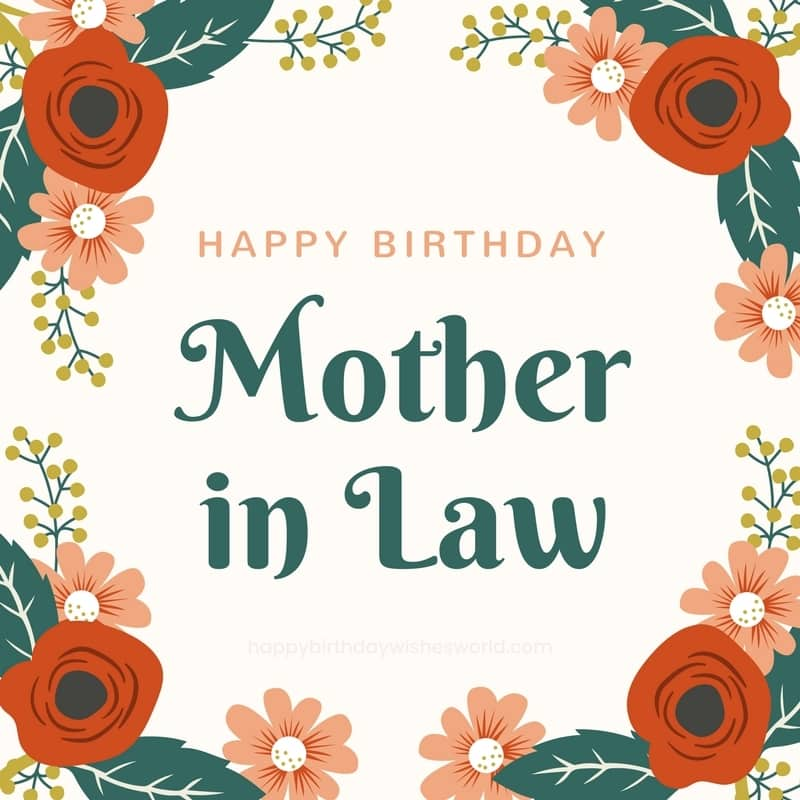 Admirable 120 Happy Birthday Mother In Law Wishes Find The Perfect Personalised Birthday Cards Paralily Jamesorg