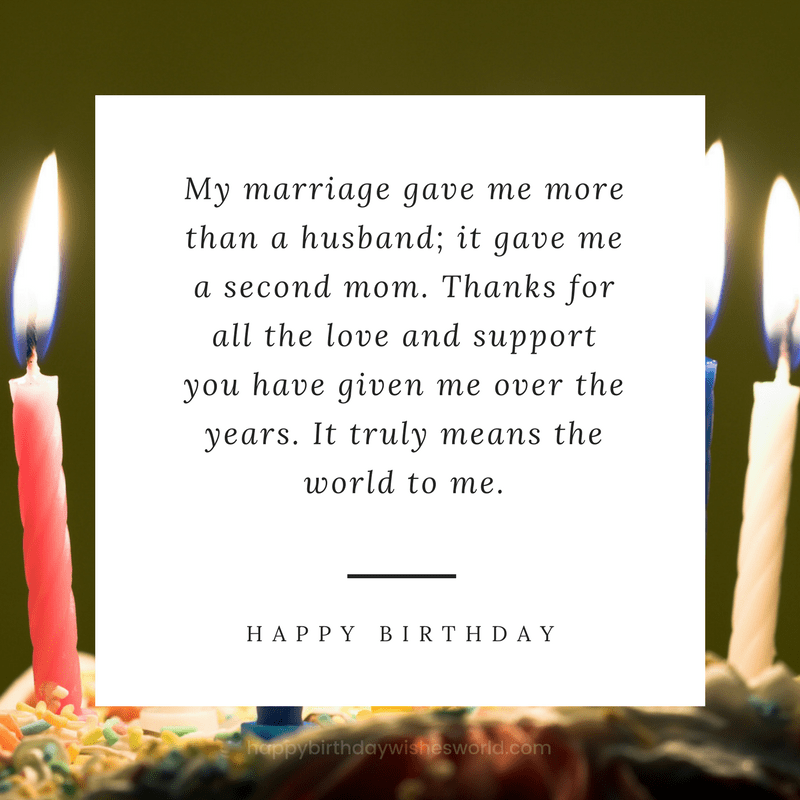 Happy Birthday Mother In Law Message