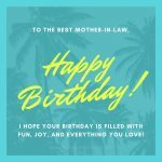 To the best mother-in-law happy birthday!