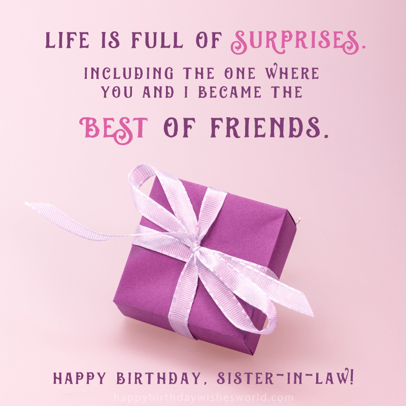210 Ways To Say Happy Birthday Sister In Law The Only List Youll Need