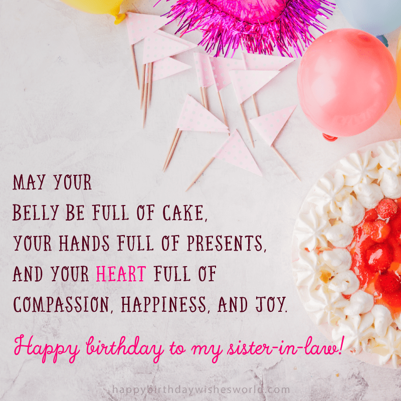 210 Ways To Say Happy Birthday Sister In Law The Only List You Ll Need